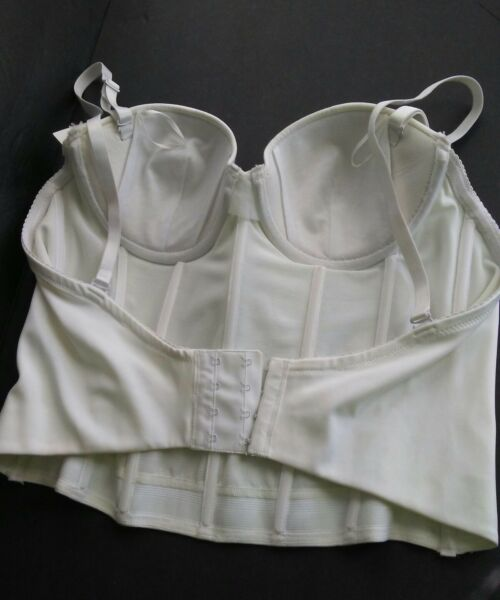 ced26a3b1e5 FASHION FORMS Style 23901 size 36B White Bust Bustier Upper Shapewear 4  Hooks. Hover to zoom