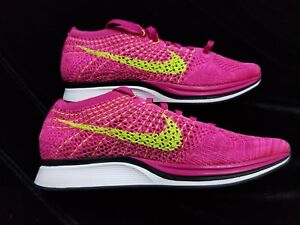e05276c5486f Image is loading MENS-NIKE-FLYKNIT-RACER-FIREBERRY-PINK-VOLT-Size-
