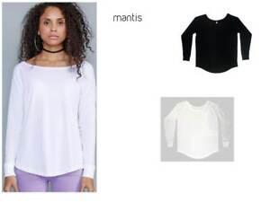 b8165d027b Dettagli su t-shirt maglietta girocollo donna manica lunga Mantis maglia  personalizzabile