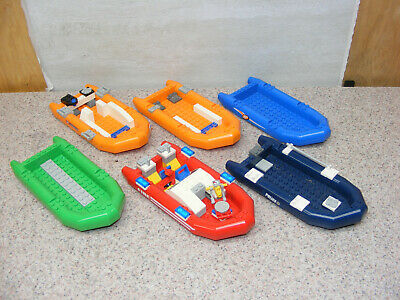 ORANGE and GREEN; ALL FLOAT WITH FREE SHIPPING RED LEGO BOATS GALORE; BLUE