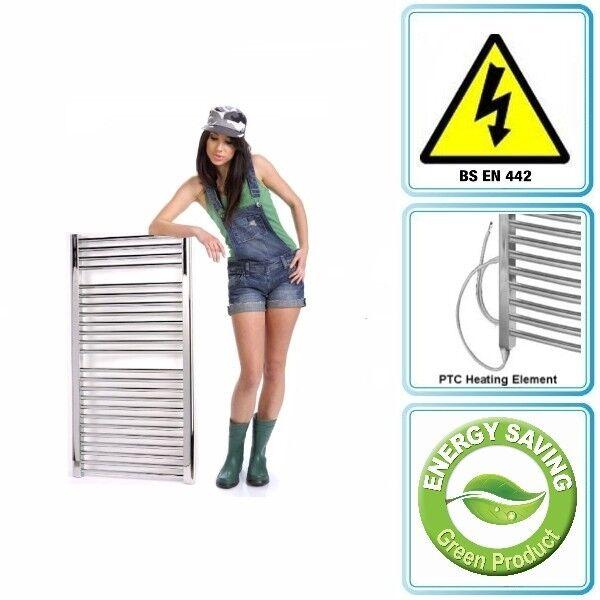 500 X 1000 eléctrico climatizada precargada Diseñador cromo Toallero Calentador Nuevo