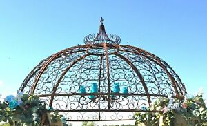 Beau Details About Wrought Iron Jester Gazebo Top Section   Create Garden  Structure