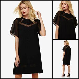 Phase Eight Kleid Größe 10 | schwarz Jaycee Spitze Swing Style | OVP | 99 £ UVP | NEU
