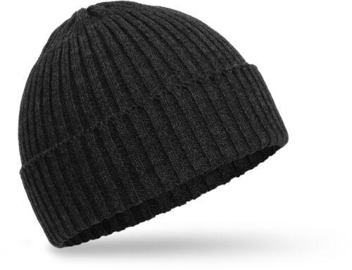 Hommes Bonnet Hiver Bonnet Côtelé finement tricote avec enveloppe