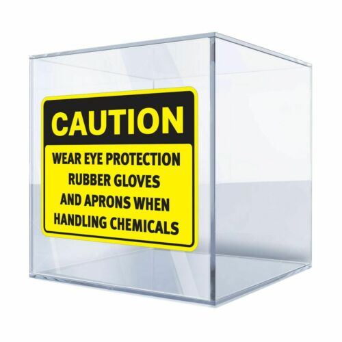 Rubber Gloves And Aprons 20 14489 Decals Decal Caution Wear Eye Protection