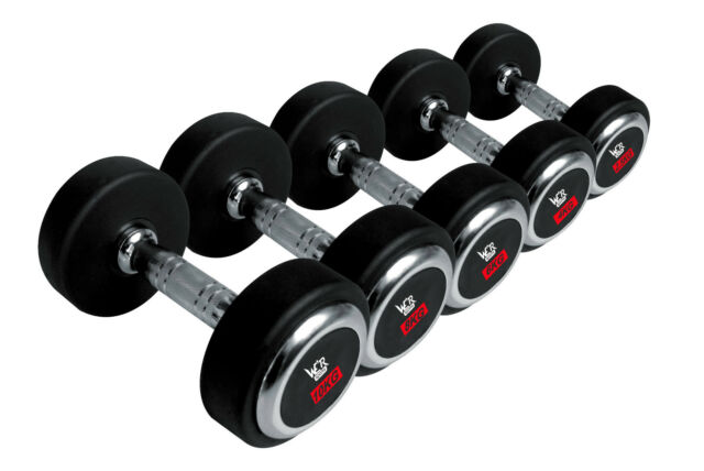 We R Sports® Olympic Round Rubber Hex Dumbbells Encased Ergo Gym Weights Sets