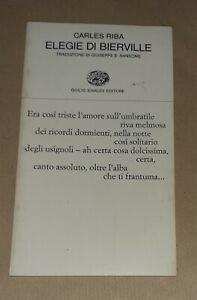 Elegie di Bierville di Carles Riba - G. Einaudi , 1977