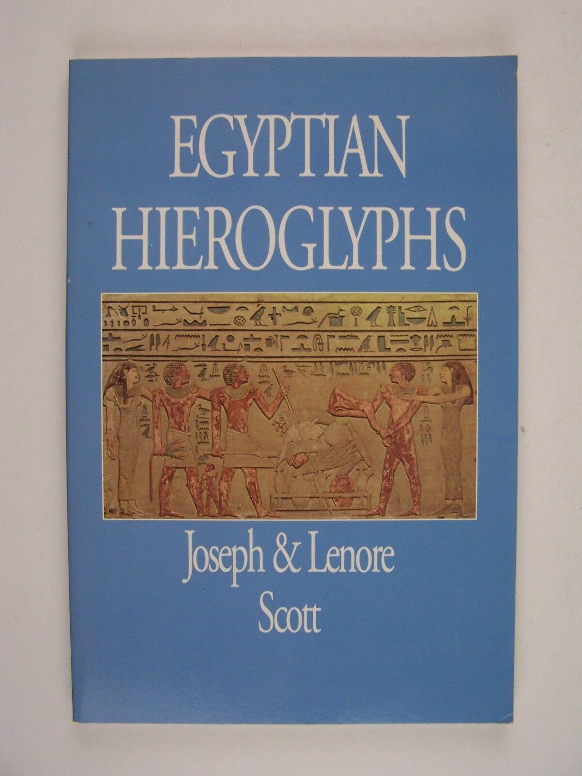 Egyptian Hieroglyphics Paperback by Scott