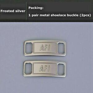 Rodeado eficacia Punta de flecha  Nike AF1 Replacement Lace Tags Shoe badge SILVER Air Force Ones Dubraes ⚡️  BEST | eBay
