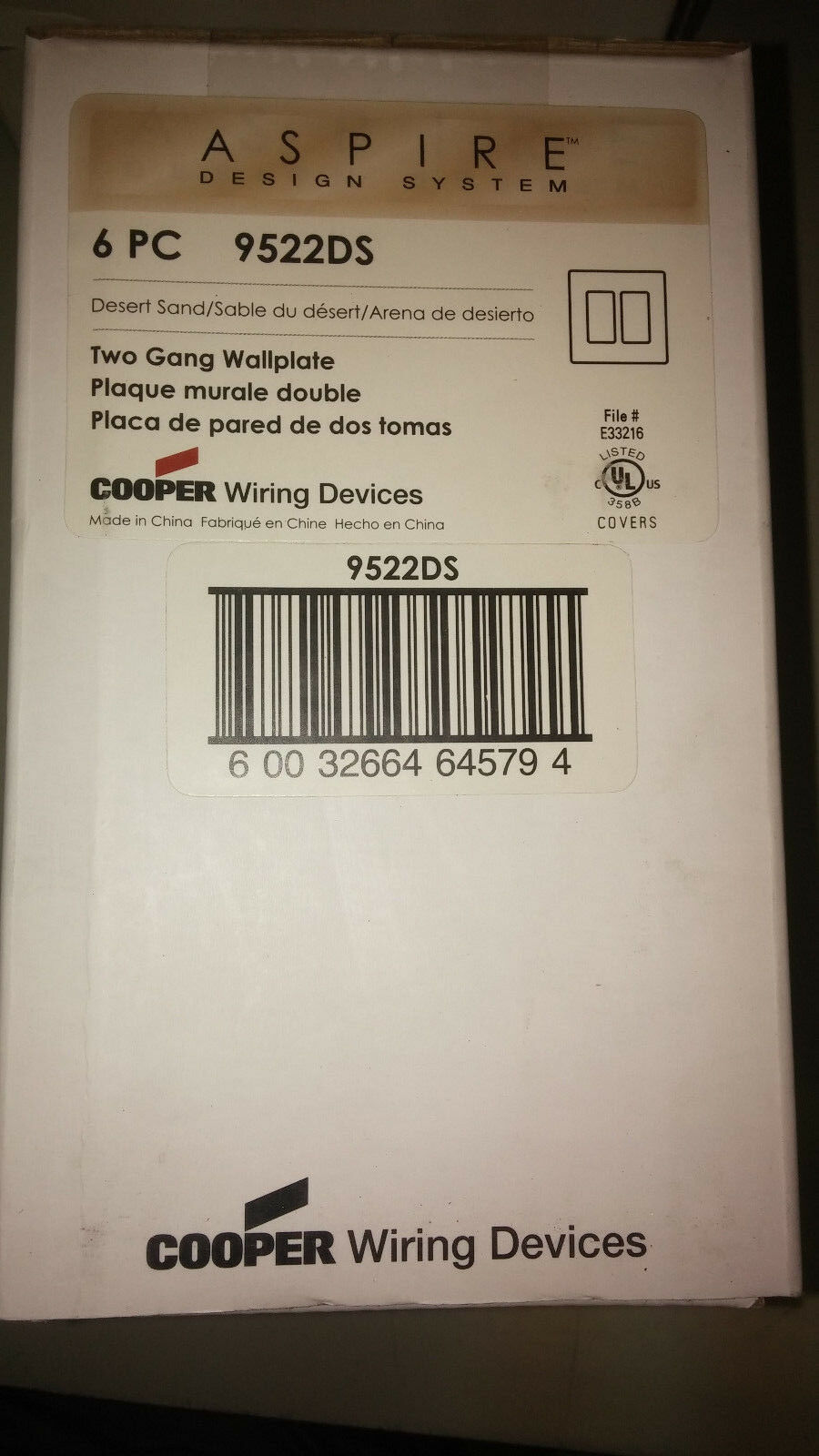 Cooper Wiring Devices Aspire Design 9522ds 2g Screwless Des Sand Norton Secured Powered By Verisign