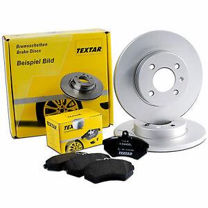 2x TEXTAR Bremsscheiben hinten Voll 286mm Für AUDI TT 92159403