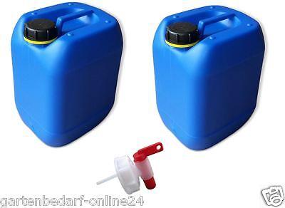 Trendmarkierung 2 X 10 L Kanister Blau Camping Trinkwasserkanister Dicht Auslaufhahn Din61 Sport