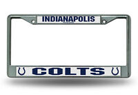 NFL Indianapolis Colts, Metal License Plate Frame (Chrome)