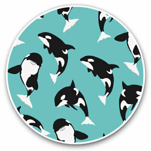 2-x-Vinyl-Stickers-7-5cm-Orca-Killer-Whale-Sea-Life-Cool-Gift-3541