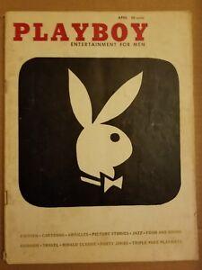 Playboy-April-1956-Good-Condition-Free-Shipping-USA