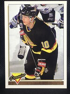 1993-94-Topps-Premier-260-GOLD-FOIL-Parallel-PAVEL-BURE-English-Text-Canucks