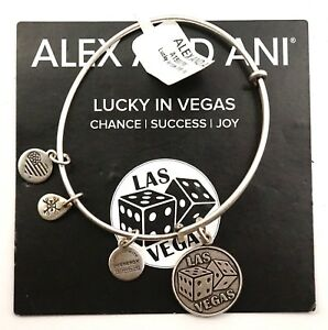 Alex And Ani Lucky In Las Vegas Dice Exclusive Silver Charm Bracelet