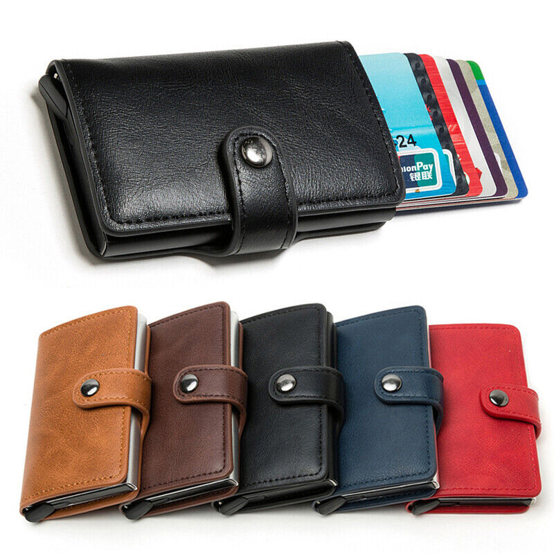 1PC Thin Card Holders Cardpackage Credit Card Case Leather Wallets Money Clip