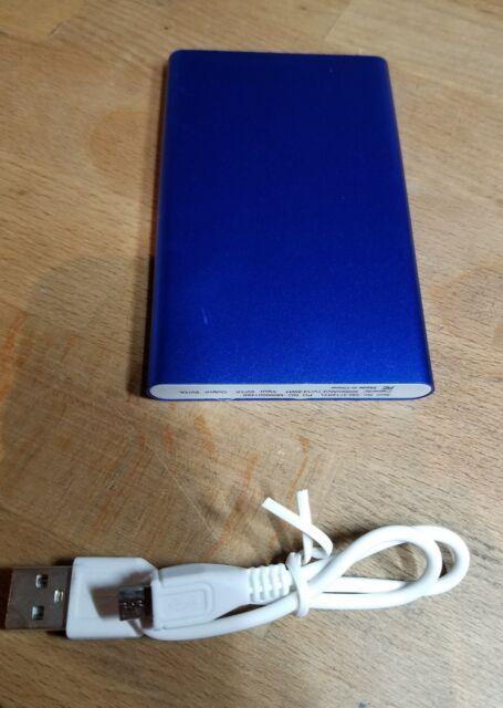 4000mAh Portable Phone Pack Backup External Battery USB Power Bank Charger Blue