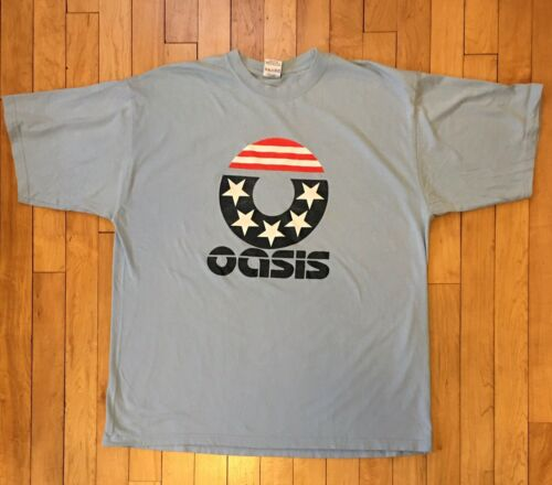 Rare Vintage Oasis Rock Band T Shirt Mens Large
