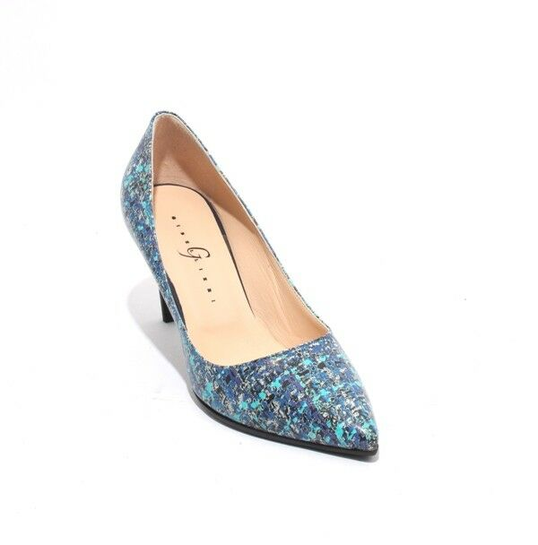 Gibellieri 3367l MultiCouleur Leather   Classics Pointy Heel Pumps 39.5   US 9.5