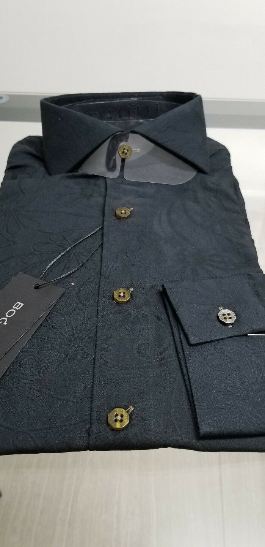 NWT Bogosse Men's size 3 or Medium long sleeve button down shirt, boss