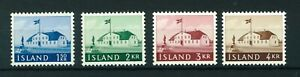 Iceland-1958-Old-Government-House-full-of-stamps-MNH-Sg-360-363