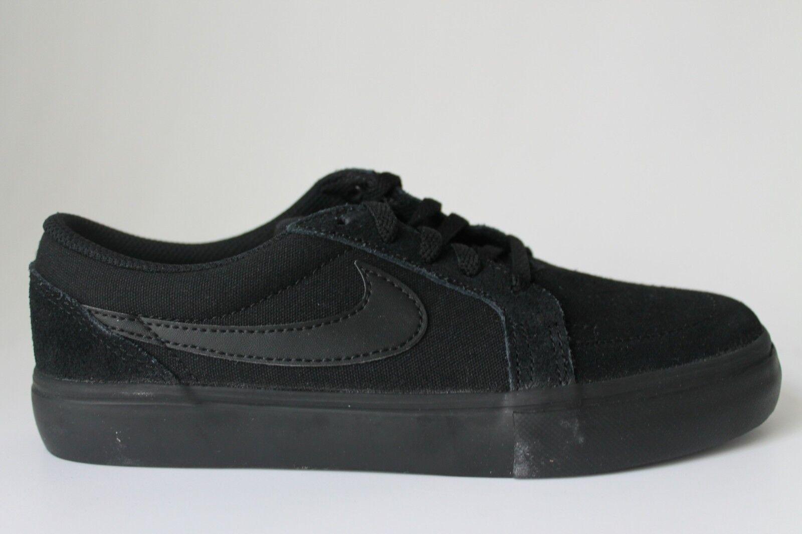 Kids Nike Sb Satire Ii Gs Suede Canvas Black Branded Footwear