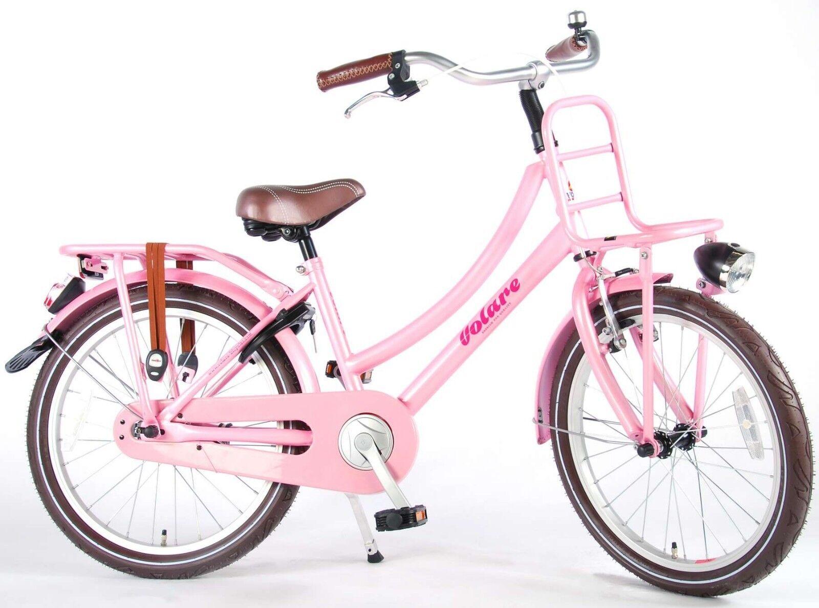 20 Zoll Fahrrad  Kinderfahrrad Mädchen  Kinder Rosa Rosa Hollandrad