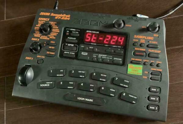 zoom st 224 st224 sampletrak sampler drum machine for sale online ebay. Black Bedroom Furniture Sets. Home Design Ideas