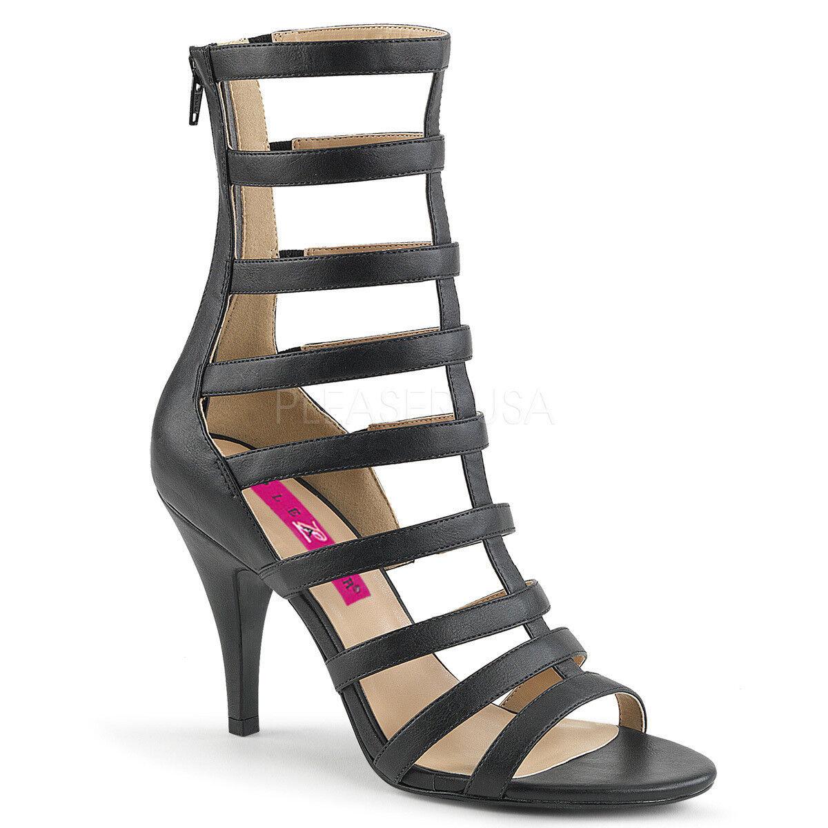 Rebajas Dream negro - 438 Pleaser High-heels con tiras sandalias negro Dream efecto piel talla 47 0244f5