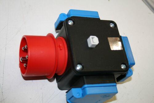 CEE-Stecker 16A Stromverteilerbox 3 x Schukosteckdosen tripus 204.918