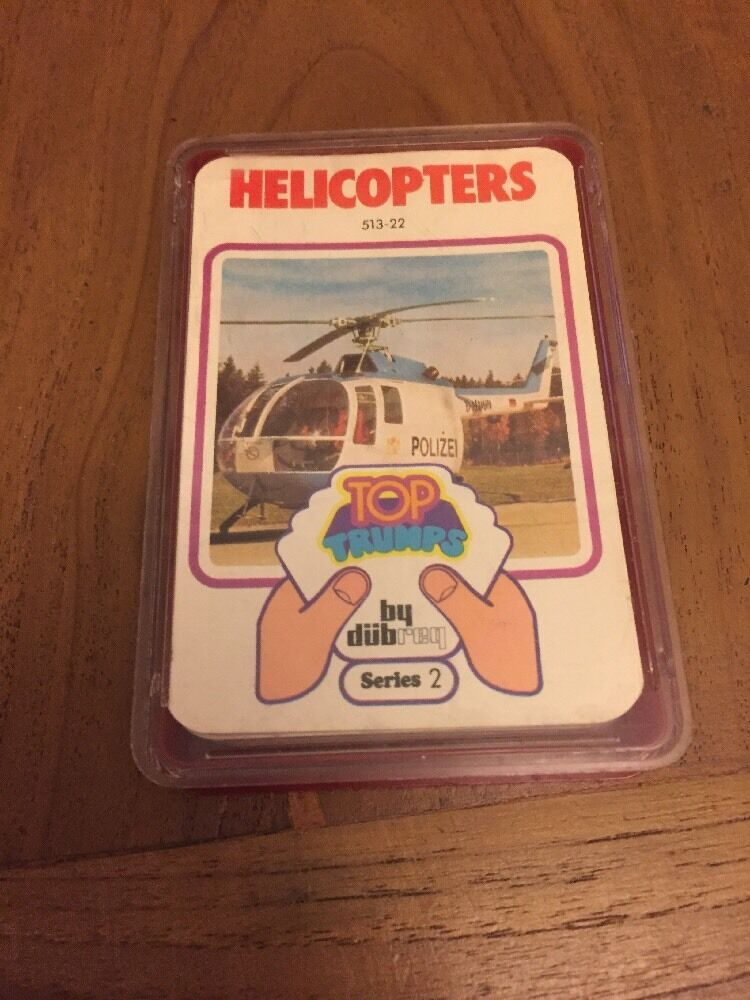 Dubreq Top Trumps Helicopters Series 2 Complete 1977 Vintage Vintage Vintage Rare Y477 8a35c6