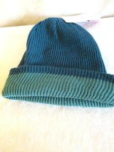 Merrell Campee Beanie Knit Hat One Size Unisex Reversible Blue Green ... 81f032194ee