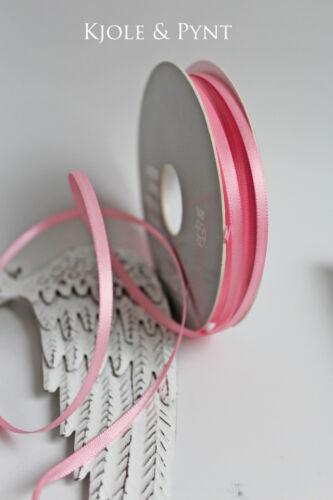 Satinband 3mm Markenware Rosa Marble Rose Vivant Premium double Satin 0,20€//m
