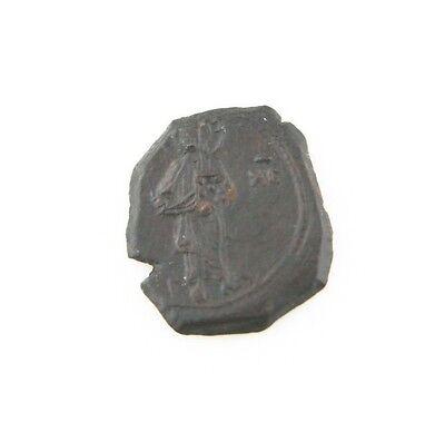 Byzantinische Münzen Unparteiisch 1118-1143 East Roman Byzantinisch Ae 1/2 Tetarteon Xf Ii Comnenus Halb S# 1954