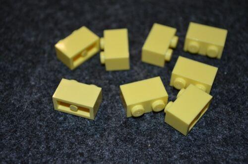 8 ~ 1x2 Cool Yellow Standard Brick Bricks  ~ Lego  ~ NEW