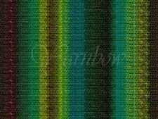 NORO ::Kureyon #332:: wool knitting yarn Lime-Teal-Greens-Wine-Nut