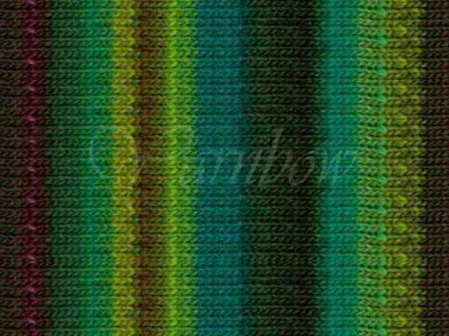 :Kureyon #332: wool knitting yarn Lime-Teal-Greens-Wine-Nut NORO