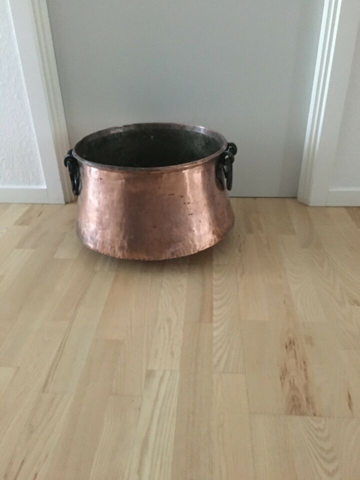Kobber brændespand