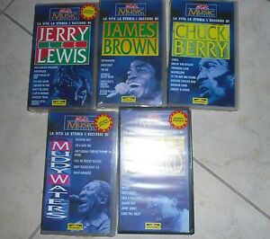 5-VHS-CHUCK-BERRY-Jerry-Lee-Lewis-LITTLE-RICHARD-James-Brown-MUDDY-WATERS