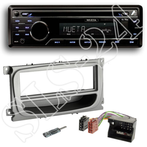 ford focus a partir de 2007 diafragma plateado adaptador Quadlock Mueta a4 USB SD CD radio