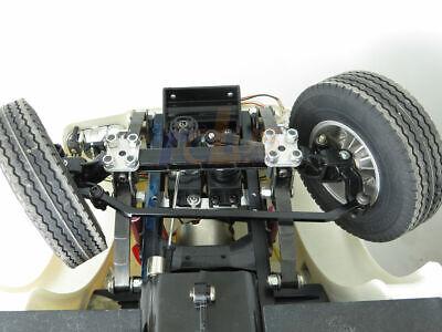 Metal Front Servo Steering Bumper Mount For Tamiya 1//14 RC LESU Tractor Truck