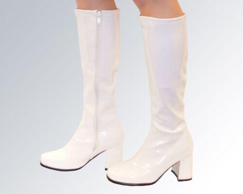 hauteur Patent Size blanches Uk genou 5 Fashion Bottes Bqwzd8z