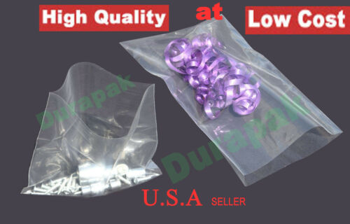 """500~ 9x18/"""" 4 Mil Clear Flat Open Top LDPE Poly Bag Industrial Retail Food Bags"""