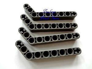 Lego Technic 7-3 2x Liftarm 1x9 bent thick blanc//white 32271 NEUF