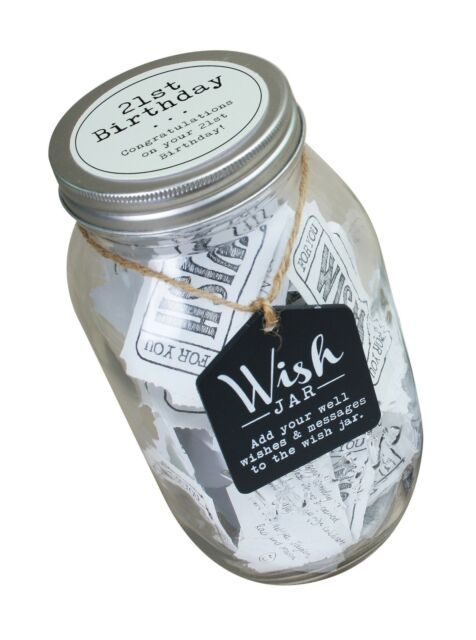 Top Shelf 21st Birthday Wish Jar Unique Gift Ideas For Daughter Son Sister For Sale Online Ebay