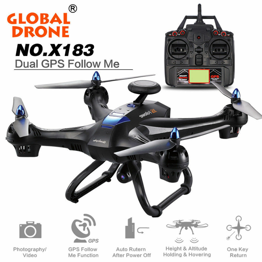 Global Drone X183 WiFi FPV 1080P HD Camera GPS Brushless Quadcopter Helicopter