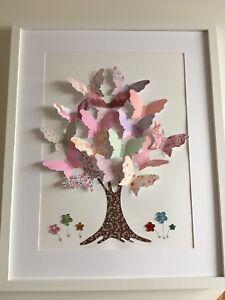 Kinderzimmer deko mädchen  3D Bild Kinderbild Kinderzimmer Dekoration Mädchen Schmetterling ...