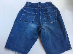 VINTAGE-1940ies-Levis-701-502-501-high-waist-Short-Single-Stitch-BIG-E-23x8